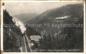 Koenigsfeld Schwarzwald Schwarzwaldbahn Haldentunnel Seelenwaldkurve Dampflokomotive Kat. Koenigsfeld im Schwarzwald