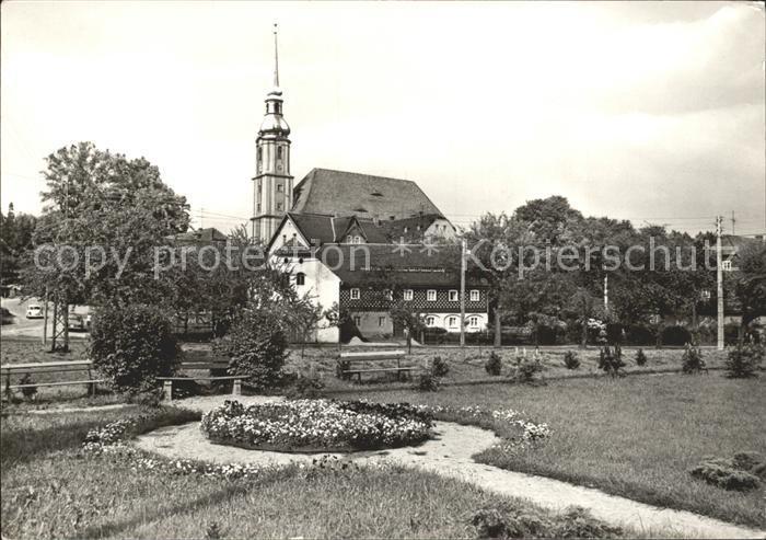 Cunewalde Park Kirche Erholungsort Kat. Cunewalde