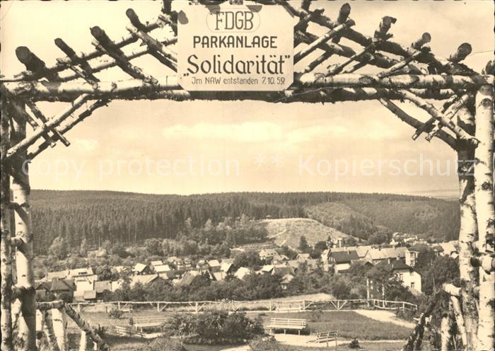 Finsterbergen FDGB Parkanlage Solidaritaet Kat. Finsterbergen Thueringer Wald