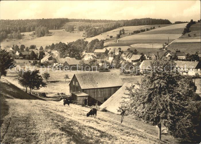 Markersbach Panorama Kat. Markersbach