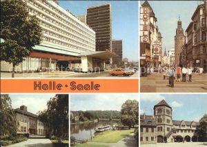 Halle Saale Interhotel Klement Gottwald Strasse Hochschule Dampferanlegestelle Burg Giebichenstein Moritzburg Kat. Halle