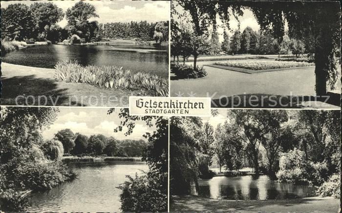 Gelsenkirchen Stadtgarten Teilansichten Kat. Gelsenkirchen
