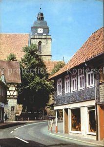Eisfeld Strassenpartie Kirchturm Kat. Eisfeld