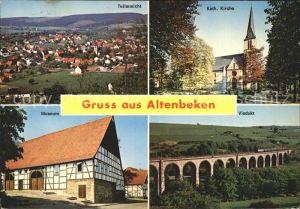 Altenbeken Teilansicht Kath Kirche Museum Viadukt Kat. Altenbeken
