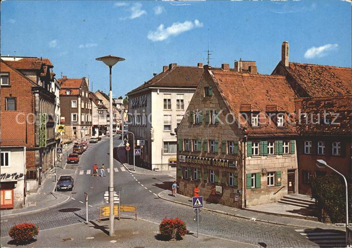 Zirndorf Mittelfranken Marktplatz und Fuerther Strasse Kat. Zirndorf