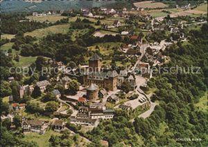 Schloss Burg Wupper Fliegeraufnahme Wahrzeichen des Bergischen Landes Kat. Solingen
