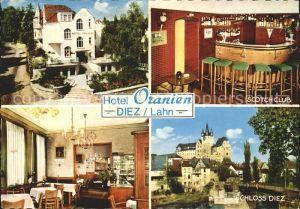 Diez Lahn Hotel Oranien Schloss Scotch Club Kat. Diez