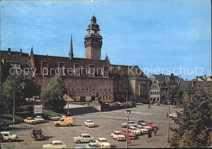 Zeitz Rathaus am Friedensplatz Kat. Zeitz