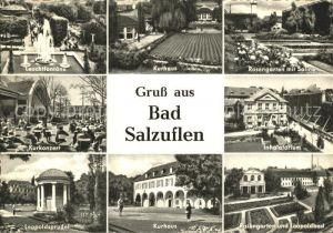 Bad Salzuflen Leuchtfontaene Kurhaus Rosengarten Saline Kurkonzert Inhalatorium Leopoldsprudel Kurhaus Leopoldbad Kat. Bad Salzuflen