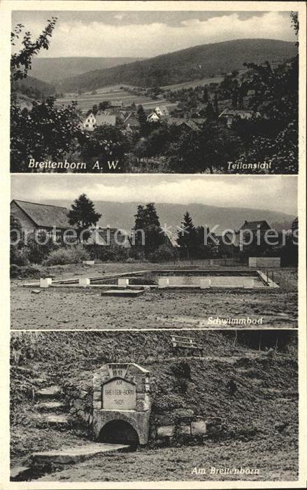 Breitenborn Gruendau Am Breitenborn Schwimmbad / Gruendau /Main-Kinzig-Kreis LKR