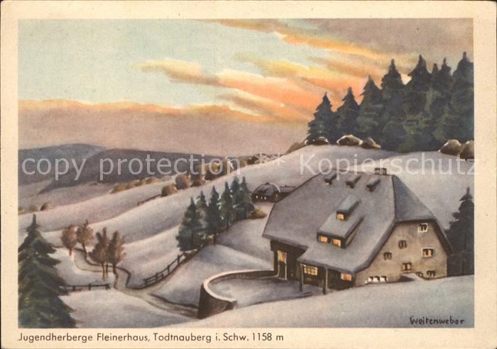 Todtnauberg Jugendherberge Fleinerhaus Kat. Todtnau