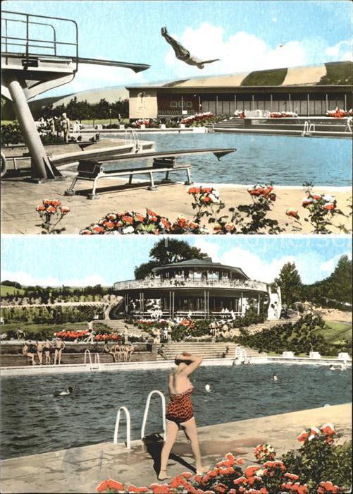 Heringen Schwimmbad Kat. Heringen (Werra)