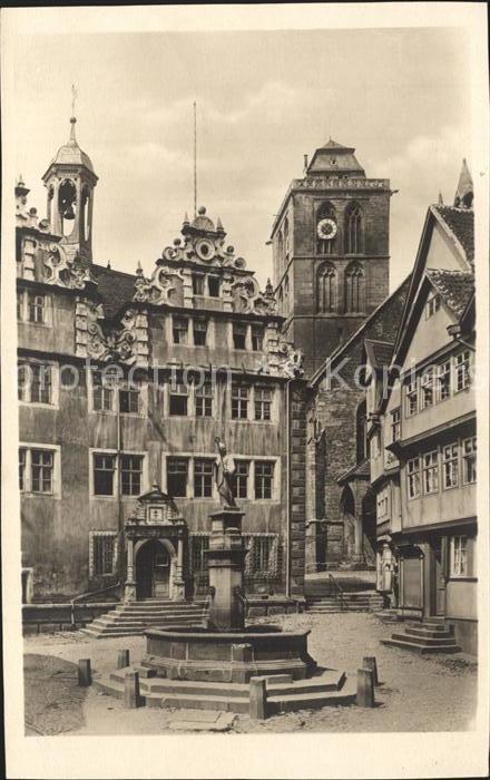 Bad Hersfeld Rathaus Brunnen Kat. Bad Hersfeld