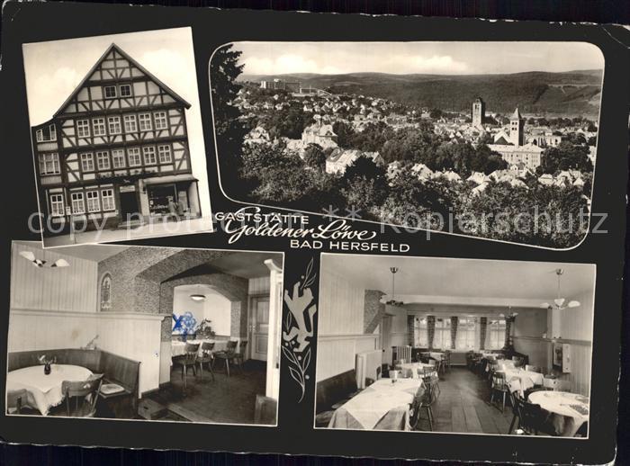 Bad Hersfeld Gesamtansicht Gaststaette Goldener Loewe Fachwerkhaus Kat. Bad Hersfeld