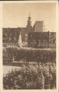 Hanau Main Marktplatz mit Blick auf Wallonische Kirche Kat. Hanau