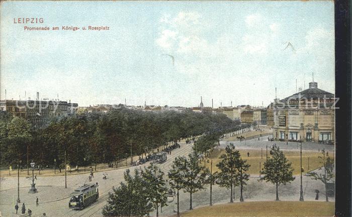 Leipzig Promenade am Koenigs und Rossplatz Kat. Leipzig
