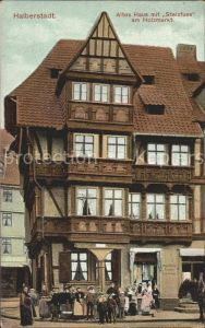 Halberstadt Altes Haus mit Stelzfuss am Holzmarkt Kat. Halberstadt
