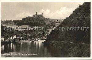 Balduinstein Partie an der Lahn Schloss Schaumburg Kat. Balduinstein