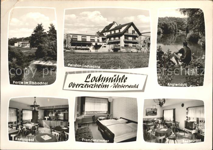 Oberzeuzheim Elbbachtal Pension Lochmuehle Restaurant Angleridyll Kat. Hadamar