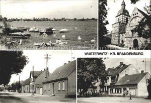 Wusterwitz Brandenburg Badestelle See Kirche Warschauer Strasse Hauptstrasse / Wusterwitz /Potsdam-Mittelmark LKR