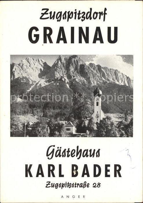 Grainau Zugspitzdorf Gaestehaus Karl Bader Schlafzimmer Aufenthalts ...