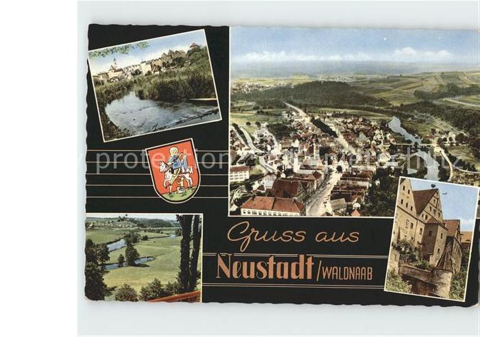 Neustadt Waldnaab Totalansicht Schloss Dorfpartie Kat. Neustadt a.d.Waldnaab