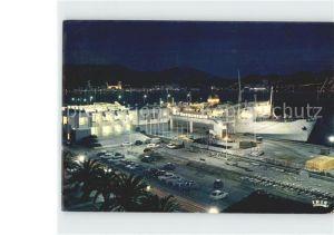 Ajaccio Le port et la gare maritime illumines Le Napoleon a quai Kat. Ajaccio