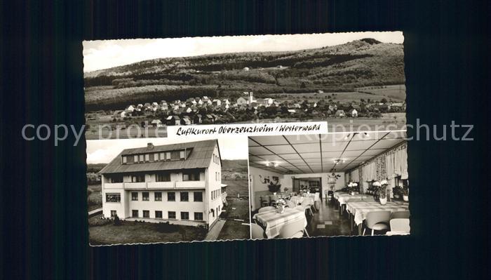 Oberzeuzheim Panorama Luftkurort Pension Tannenwald Restaurant Kat. Hadamar