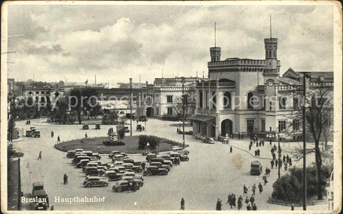 Breslau Niederschlesien Hauptbahnhof Kat. Wroclaw