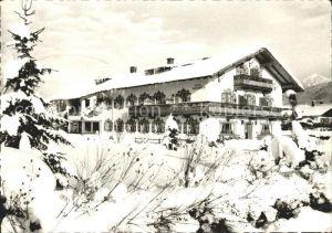 Kruen Hotel Pension Alpenhof im Winter Kat. Kruen