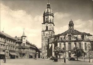 Waltershausen Gotha Markt mit Kiche Kat. Waltershausen