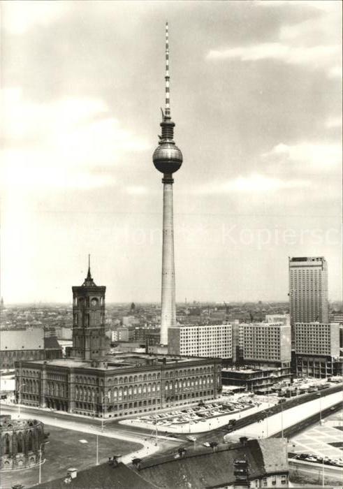 Berlin Rathaus und Fernsehturm Kat. Berlin
