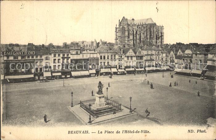 Beauvais La Place de L Hotel de Ville  Kat. Beauvais