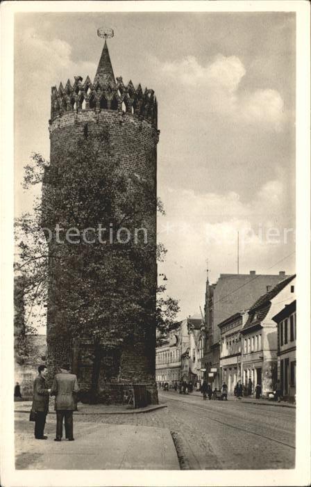 Brandenburg Havel Plauer Tor Turm Kat. Brandenburg