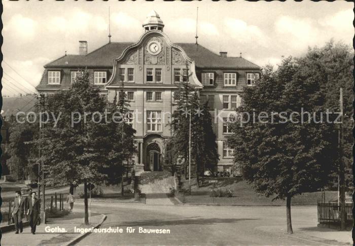 Gotha Thueringen Ingenieurschule Bauwesen Kat. Gotha
