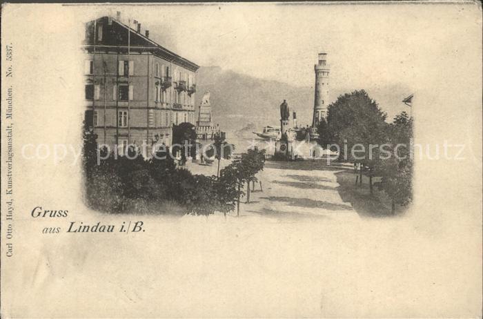 Lindau Bodensee Hafenpartie Leuchtturm Kat. Lindau (Bodensee)