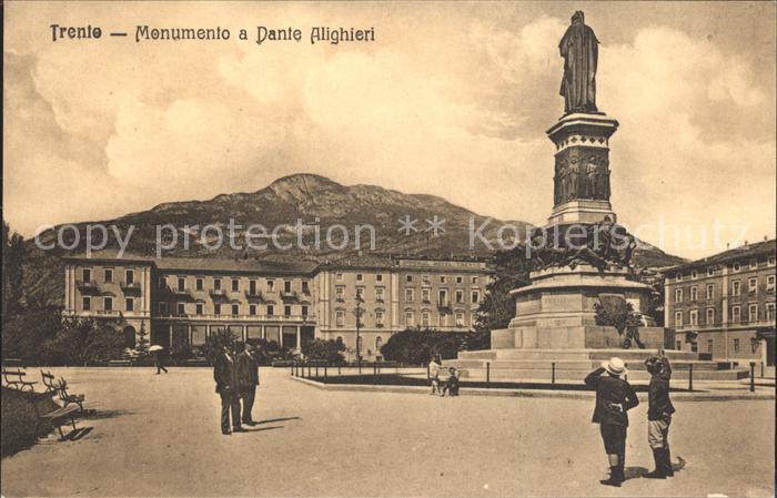 Trento Monumento a Dante Alighieri Kat. Trento