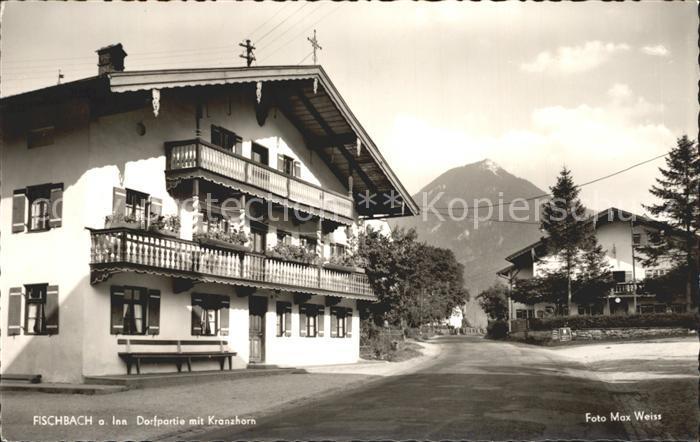 Fischbach Inn Dorfpartie mit Kranzhorn Kat. Flintsbach a.Inn