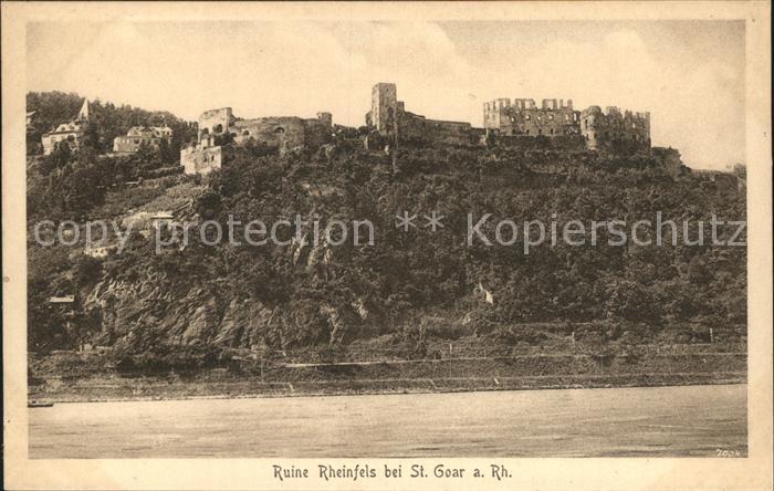 St Goar Ruine Rheinfels Kat. Sankt Goar