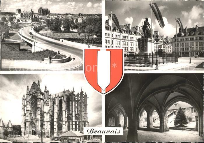 Beauvais Le Paul Route Place Jeann Hachette La Cathedrale Le Cloitre Kat. Beauvais