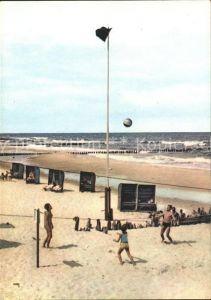 Ustronie Morskie Plaza Strand Beach Volleyball Kat. Henkenhagen Pommern