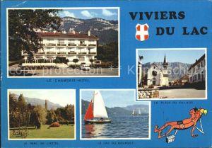 Viviers du Lac Chambaix Hotel Parc Lac du Bourget Place du Village Kat. Viviers du Lac
