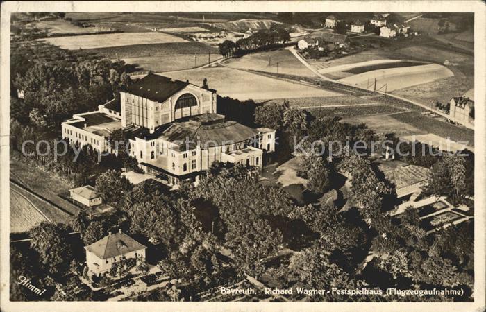 Bayreuth Fliegeraufnahme Richard Wagner Festspielhaus Kat. Bayreuth