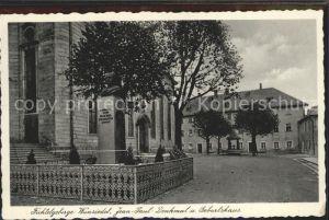 Wunsiedel Jean Paul Denkmal und Geburtshaus Kat. Wunsiedel