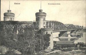 Mainz Rhein Eisenbahnbruecke / Mainz Rhein /Mainz Stadtkreis