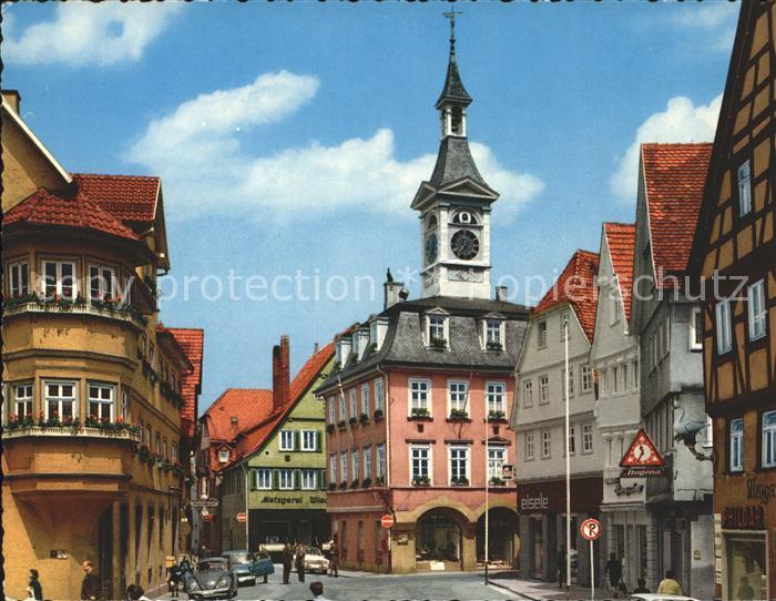 Aalen Altes Rathaus mit Sponturm Kat. Aalen