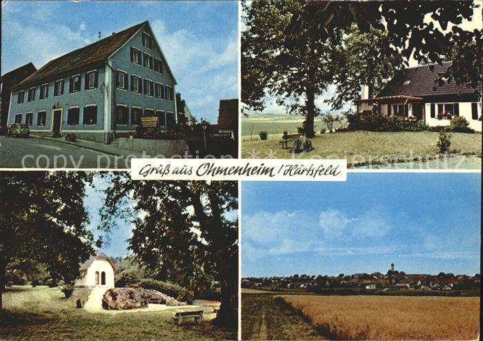 Ohmenheim Landgasthof Zur Kanne Ortsansicht Kat. Neresheim