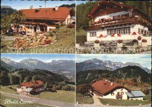 Oberau Berchtesgaden Berggasthof Pension Haus Dora Kat. Berchtesgaden