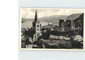 Bacharach Rhein Teilansicht Kirche Kat. Bacharach