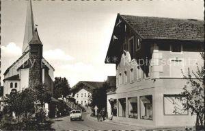 Kirchanschoering Dorfpartie mit Kirche Kat. Kirchanschoering